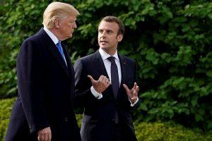 E. Macronas perspėjo D. Trumpą dėl prekybos karo