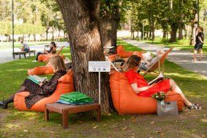 Lukiškių skaityklos vasara – karšta
