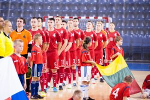 Lietuvos salės futbolo rinktinė pralaimėjo Slovakijai