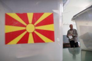 """Makedonijos """"taip"""" naujam šalies pavadinimui temdo menkas balsuotojų aktyvumas"""