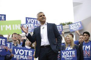 """Londono meras leiboristas kartu su premjeru agituos prieš """"Brexit"""""""