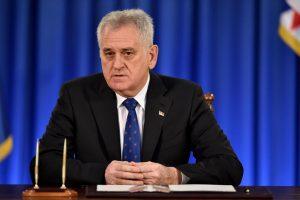 Serbijos prezidentas paleido parlamentą ir paskelbė pirmalaikius rinkimus
