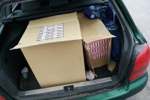 Už dvi dėžes kontrabandinių rūkalų – tūkstantinė bauda