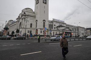 Dėl sprogmenų Maskvos traukinyje iškviesti išminuotojai