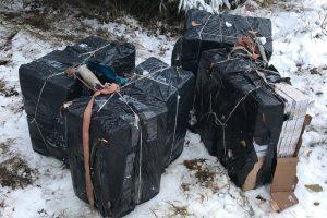 Kontrabandininkai iš Vilniaus neteko beveik 4 tūkst. pakelių rūkalų