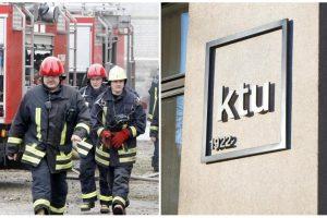 Ugniagesius ant kojų sukėlė gaisras KTU laboratorijoje