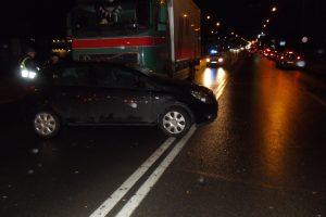 Gal matėte sunkvežimio ir lengvojo automobilio avariją Šiauliuose?