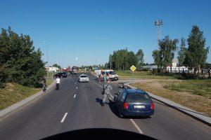Per avariją Alytuje sužalotas motociklininkas