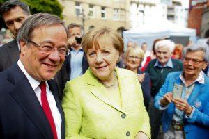 A. Merkel partija švenčia pergalę svarbiuose rinkimuose