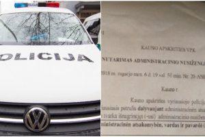 Kaune – detektyvas dėl išrašytos baudos: naudojosi telefonu ar ne?