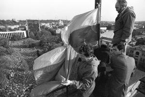 Po 30 metų atsirado istorinė Kaunui trispalvė: kas ją išsaugojo?