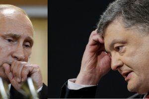 V. Putino ir P. Porošenkos pokalbiai telefonu – bevaisiai