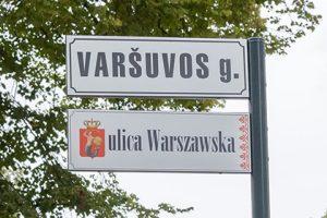 Sostinėje nuplėšta Varšuvos g. lentelė lenkų kalba