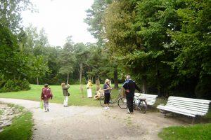 Palangos Birutės parke vėl užvirė restauracijos darbai