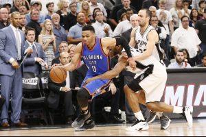 """Trečioji """"Thunder"""" krepšininkų pergalė Vakarų konferencijos pusfinalyje"""