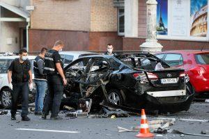 Kijeve nugriaudėjęs automobilio sprogimas gali būti laikomas teroro ataka