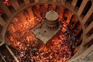 Jeruzalėje susirinko tūkstančiai krikščionių ortodoksų