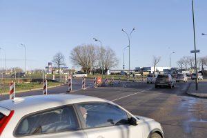 Vairuotojų dėmesiui: Sendvario žiede ribojamas eismas