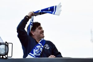 D. Maradona atvyko į Baltarusiją naujam darbui