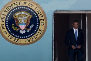 B. Obama atvyko į Kiniją