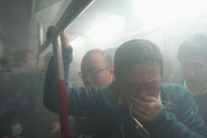 Honkonge per padegimą metropoliteno traukinyje sužeisti 18 žmonių