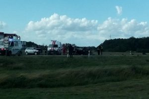 Kraupi avarija Pasvalio rajone: susidūrė trys mašinos