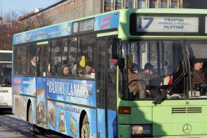 Miesto autobusams – spalvoti pokyčiai