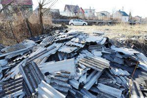 Asbesto galima atsikratyti sąvartyne