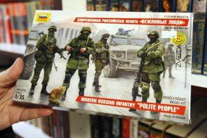 """""""Žalieji žmogeliukai"""" Klaipėdoje: propagandai pasitelkė žaislus"""