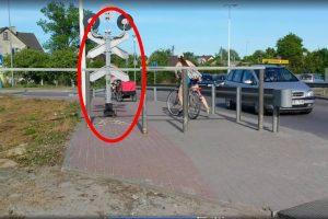Geležinkelio pervaža – dviratininkų siaubas