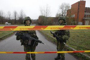 Klaipėdos mieste – ginkluoti kariai