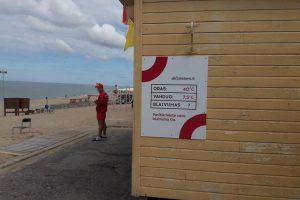 Uostamiesčio paplūdimiuose – girtumo patikrinimai