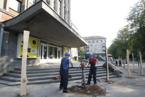 Klaipėdos muzikinis teatras virs statybviete