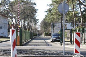 Skautų gatvės užtvaras – lyg neįveikiama tvirtovė