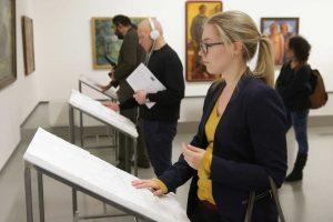 P. Domšaičio galerijoje – taktilinė dailės paroda