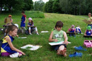 Vaikų vasaros stovykloje karaliaus kūrybinė dvasia (programa)