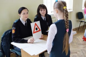 Klaipėdos policininkai vertino vaikų žinias