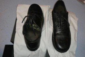 Muitininkus sudomino batai iš driežo odos