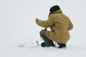 Įspėjimas: būkite atsargūs ant ledo