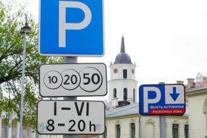 Vilniuje daugėja mokamų automobilių stovėjimo aikštelių