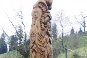 Šveicarams – lietuviška ąžuolo skulptūra