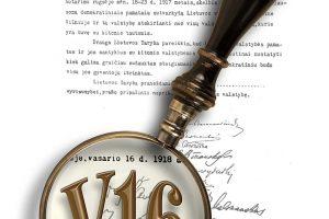 """""""MG Baltic"""" siūlo milijoną už nepriklausomybės akto originalą"""