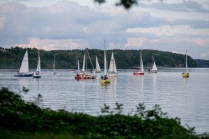 Buriuotojų dieną Kauno mariose surengtas jachtų paradas