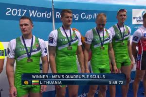 Lietuvos porinei keturvietei – pasaulio taurės III etapo auksas
