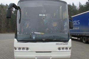 Berlyne sustabdytas avarinės būklės autobusas su vaikais iš Rusijos