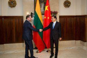 Lietuvos ir Kinijos premjerai sutarė didinti krovinių pervežimą