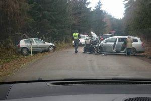 Avarija Kauno rajone: vienas vairuotojas neblaivus