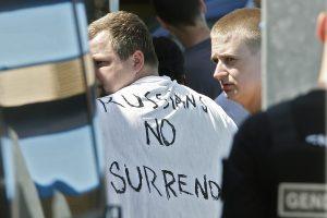 Tarp Prancūzijoje suimtų sirgalių – Rusijos ultradešiniųjų simbolis