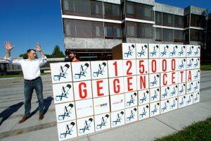 Vokietijoje – protestas prieš ES ir Kanados laisvosios prekybos sutartį