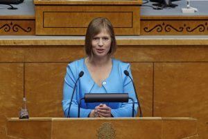 Naujoji Estijos prezidentė pirmiausia aplankys Suomiją